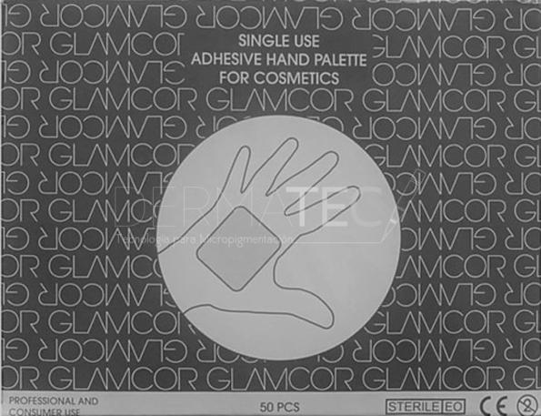 GLAMCOR SINGLE USE MAKEUP HAND PALETTE x 50PCS/CAJA
